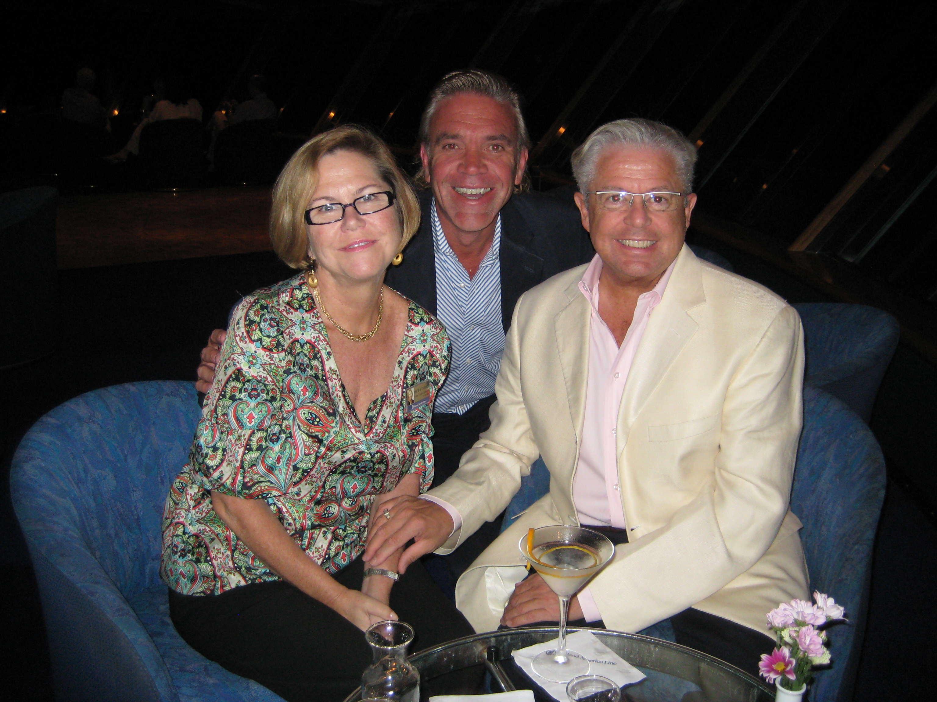 Tina Faulkner, Onboard Cruise Consultant; Tom Baumann, President Cruise Specialists; Gerald Bernhoft