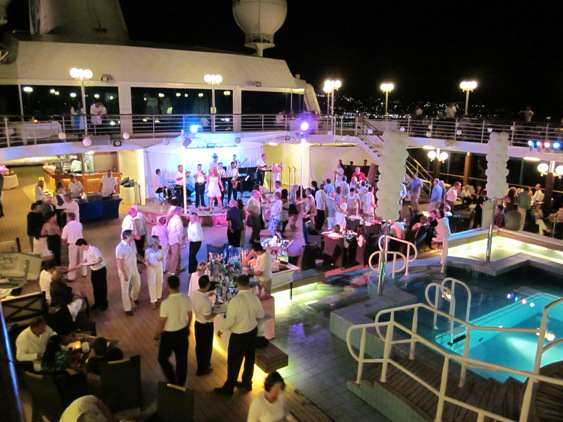 Deck party onboard the Azamara Quest.