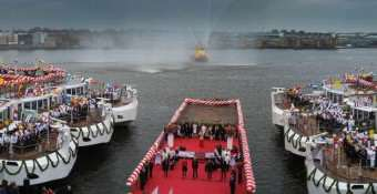 100 Viking Longships by 2020? Tor's Vision. 10 Ships Christened In Amsterdam, A World Record