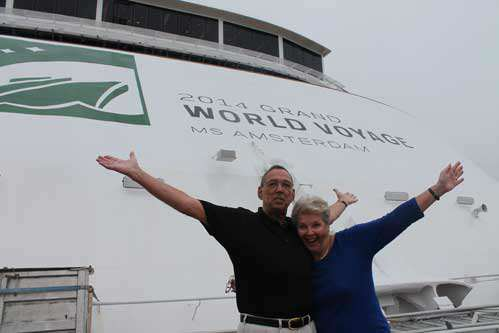 Cruise Specialists Voyage Hosts Henk & Lucia Barnhoorn on the ms Amsterdam