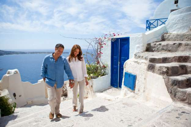 Couple exploring Greece