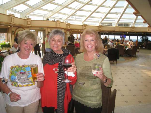 New friends celebrating Australia Day aboard the Cunard Queen Elizabeth World Cruise.