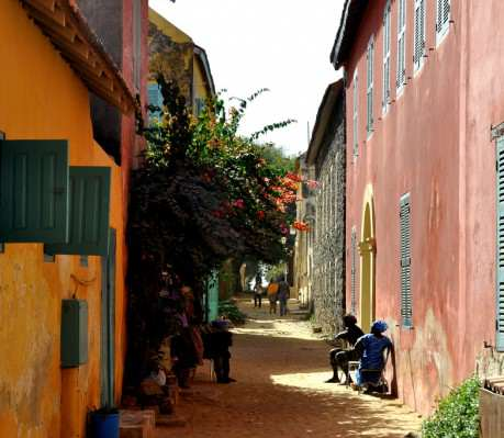 A street on the island of Goree - Photo by Michael Fleshman from Flickr