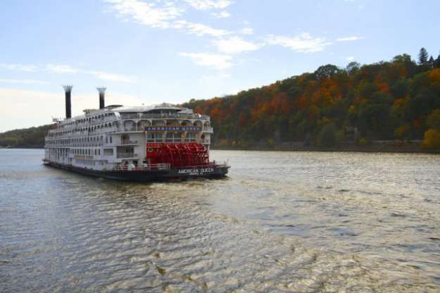 Viking's vessels aren't likely to have paddlewheel, like the American Queen. © 2012 Ralph Grizzle