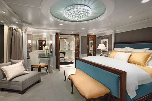 Owners Suite bedroom. courtesy of Oceania Cruises