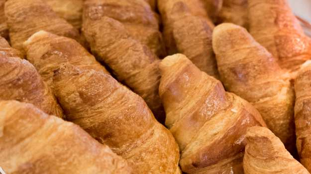 Fresh-baked croissants for breakfast. © 2015 Ralph Grizzle