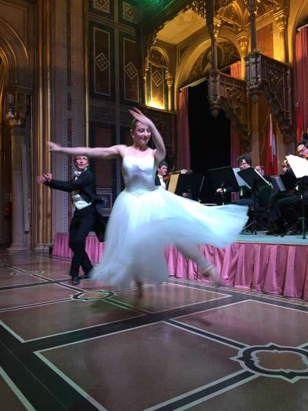From my front-row seat, a Viennese waltz. © 2015 Ralph Grizzle