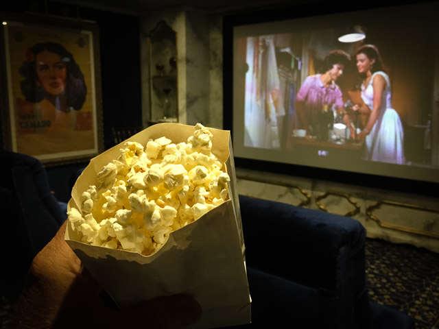 Cinema on Uniworld's S.S. Maria Theresa. ©2015 Ralph Grizzle