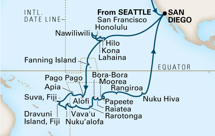 Highlights Of Holland America South Pacific Cruise - Tales of the south pacific