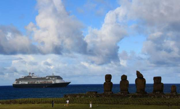 HAL Amesterdam on Easter Island from Tom Mullen
