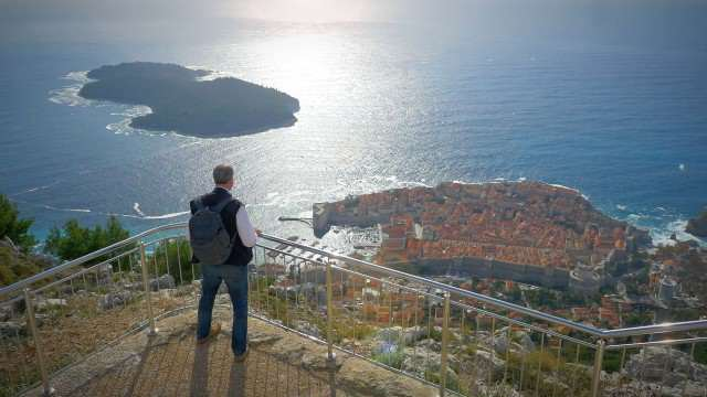 Looking out on Dubrovnik.