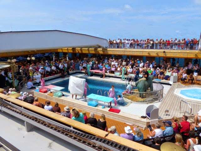 On one cruise passengers enjoyed a King Neptune ceremony as they crossed the equator. Photo from Jeff.
