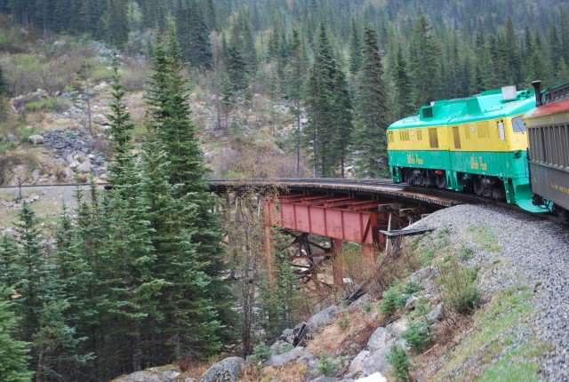 White Pass Railroad in Skagway