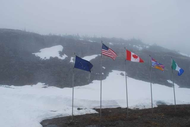 Flags from the White Pass Rail