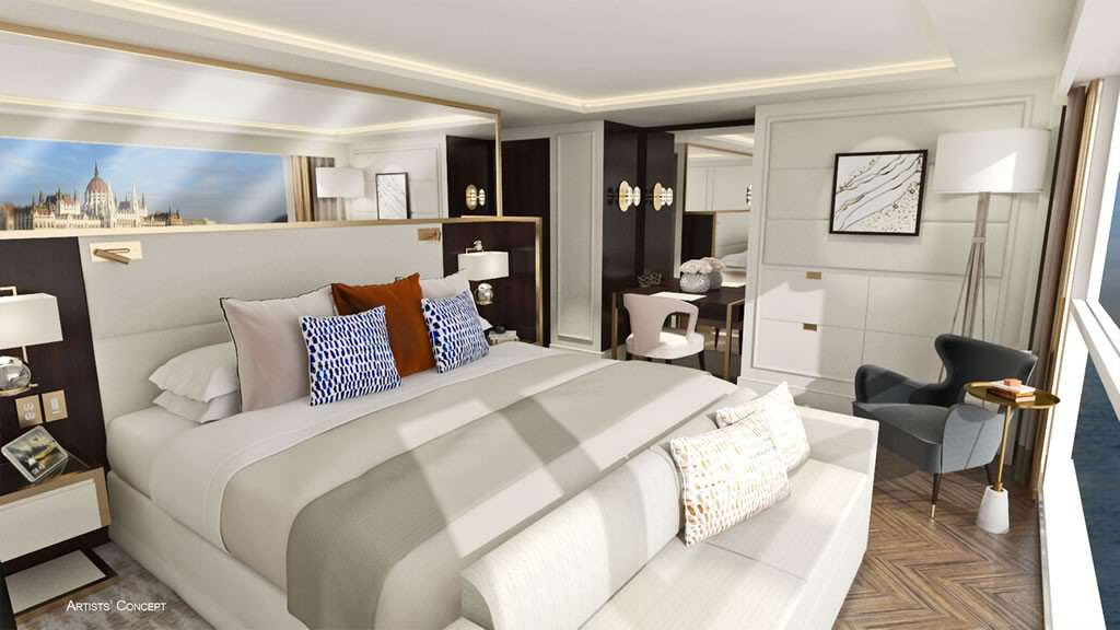 Crystal River Cruises Suite Rendering