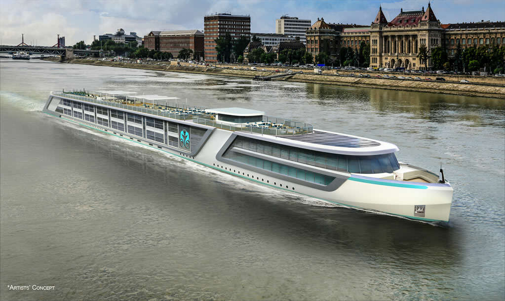 Crystal River Cruises Luxury Yacht Rendering