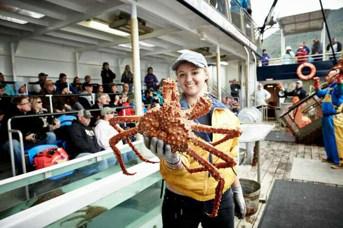 Finding crabs in Alaska