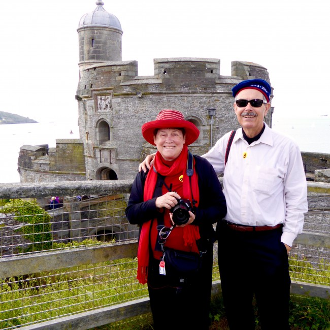 Guests Sharon and Al Touring Falmouth, England with Holland America