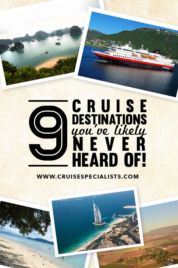 9 off the beaten path cruise destinations - you'll be dying to get away after a look at these!
