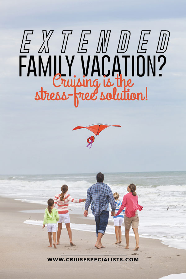 Large family vacation ideas can feel overwhelming, but here are 4 reasons a cruise is the perfect solution
