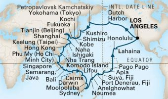 Highlights of the 82-Day Grand Asia and Pacific Voyage