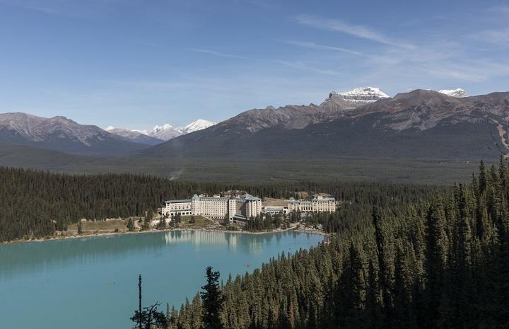 beautiful lake scene with mountains
