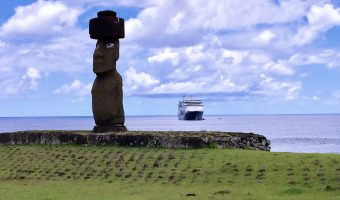Holland America Line's Amsterdam at Easter Island