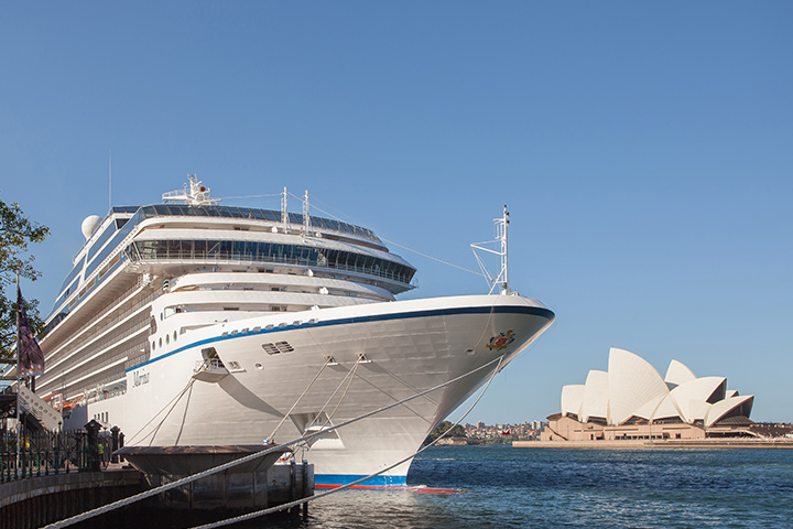The 1,250-guest Marina, docked in Sydney