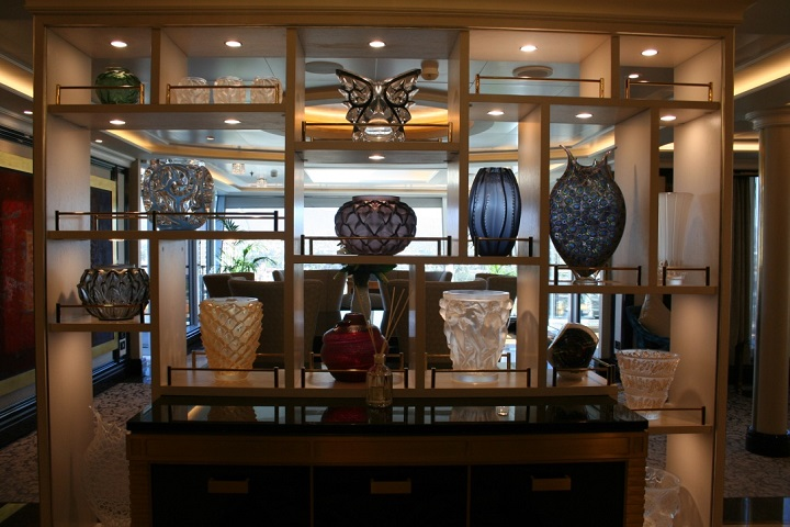 original artwork in cruise ship suite