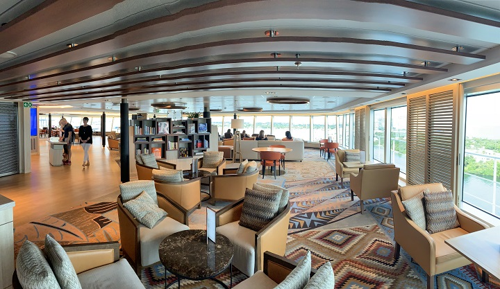 cruise ship lounge and cafe