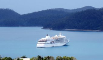 ship anchored in Australia