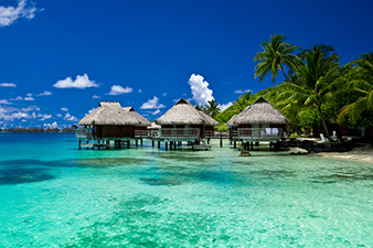 Overwater Bungalows in Tahiti