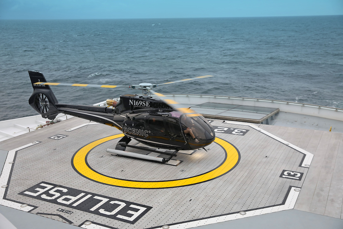 Scenic Eclipse Helicopter<br/><small>Image copyright: Richard Brierley</small>