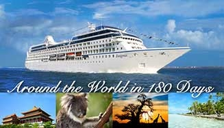 Travel Around the World in luxury with Oceania 2018 World Cruise Voyage sailing roundtrip Miami. No International Flights, FREE First Class Roundtrip Air, $6,200 Shipboard Credit and more!
