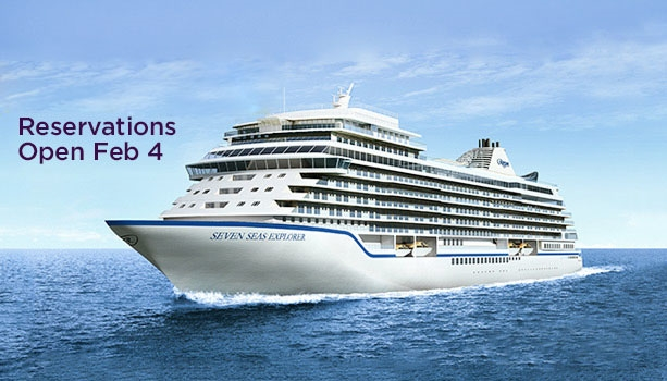 Regent Seven Seas' new ship - Seven Seas Explorer - Don't miss out - Inaugural Mediterranean Season Open for Sale Wednesday, Feb 4.