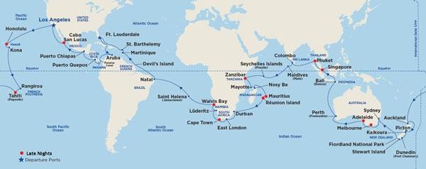 World Cruise 2020.Princess Cruises 2020 Princess World Cruise On Pacific Princess